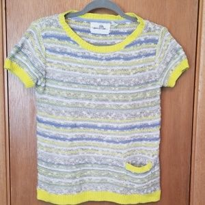 Anthropologie Striped Short Sleeved Sweater sz M